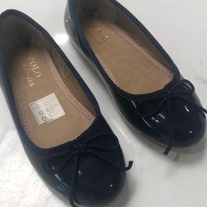 Girls Ralph Lauren Navy Patent Ballet Flats